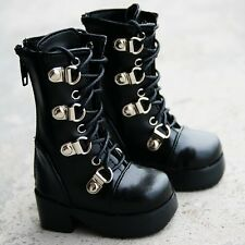 17# Black 1/4 MSD DZ DOD BJD Dollfie Synthetic Leather Boots/Shoes