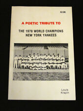 NY YANKEES A Poetic Tribute To 1978 World Champions Book by Louis Krapin Signed
