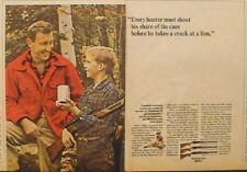 1965 Winchester 22 Shot-Gun Rifle David Ommanney Vintage Hunting Print AD