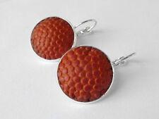 Basketball Earrings - Handmade Earrings From a Leather Basketball
