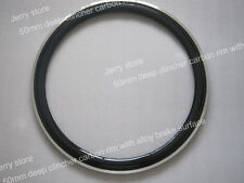 one pc 50mm deep clincher carbon bike rim with alloy brake wholesale 23mm width