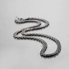 Silver necklace stainless steel chain mens 55cm 21.5 inches 6mm vintage style