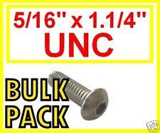 "Stainless Imperial UNC Button Head Allen Bolts (Socket Caps) 5/16 x 1.1/4"" 20 Pk"