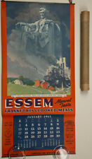 1943 Rare Norman Rockwell Abe Lincoln Americana Essem Cooked Meats Adv. Calendar