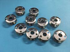 10 Nähmaschinen Spulen für Singer Nähmaschinen Metall Gewölbt