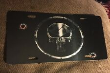 Punisher License Plate New Car Tag Metal Black & Silver