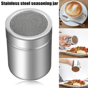 AU Stainless Steel Chocolate Shaker Icing Sugar Powder Cocoa Flour Coffee Sifter