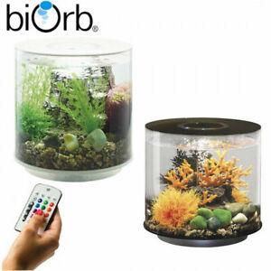 BiOrb Tube 15 Aquarium MCR LED Lighting Filter All-In-One Fish Tanks Black/White