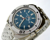 Vostok Amphibian Watch 710059 Scuba Dude Diver Military Russian Automatic Blue