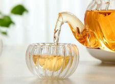 40ml Heat Insulated Handmade Double Walled Glass Tea Cup Gongfu Tea Mug