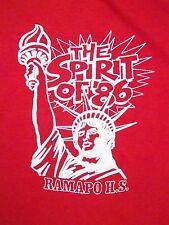 Vintage 1986 Ramapo High School New York City 80's Statue of Liberty T Shirt M