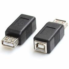 2 PCS USB 2.0 A Female to Type B Female Printer Scanner PC Adapter Convertor EU