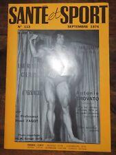 Santé et sport n°113- Bodybuilding - Musculation - Photo ARAX 1974