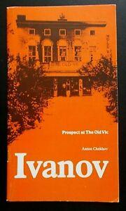 Ivanov programme Prospect at The Old Vic theatre 1978 Derek Jacobi John Cording