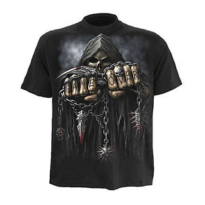 Game Over Spiral Direkt Offiziell Gothic Skelett Totenkopf Gamer T-Shirt XXL 14A