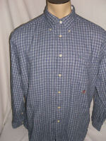 Tommy Hilfiger Mens Polo Shirt Size L Multi-Color Striped Long Sleeve Button Up