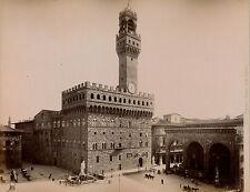 FIRENZE c. 1875 - 2 Photos Piazza della Signoria Italie - 18