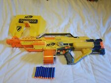 Nerf Stampede ECS N-Strike Automatic Blaster Dart Gun Shield and ammo tested