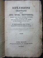 1830 RIFLESSIONI CRISTIANE INTORNO DIVINA PROVVIDENZA Padre Bernardino da Cuneo