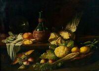 NATURE MORTE. HUILE SUR TOILE. SIGNÉ. ROSA BONHEUR. FRANCE 1842