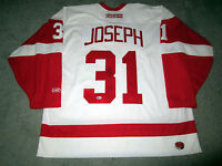 CURTIS JOSEPH Detroit Red Wings SIGNED Autographed JERSEY w/Beckett BAS COA XL