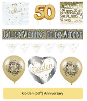 50th Golden Anniversary Party Tableware and Balloons