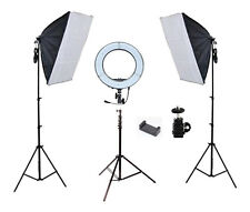 13 inch LED Diva Ring Light + Photo Video Softbox Lighting Kit Combo
