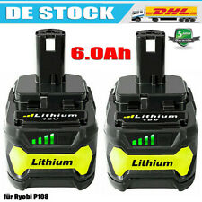 18V 6.0Ah Für Ryobi One+ Plus P108 Lithium Batterie RB18L50 P104 P780 RB18L40 DE