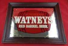London England Watneys Imported Red Barrel Beer Mirror Sign, Man Cave, Bar