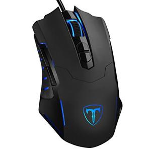 PICTEK Gaming Mouse Wired [7200 DPI] [Programmable] [Breathing Light] Ergonomic