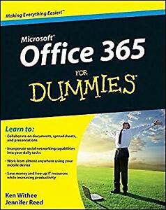 Microsoft Office 365 for Dummies Paperback Ken, Reed, Jennifer Wi