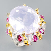 38ct+ IF AAA Natural Lavender Amethyst 925 Sterling Silver Ring Size 8.5/R122662