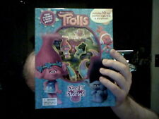 DISNEY TROLLS STUCK ON STORIES INC BOARDGAME IDEAL CHRISTMAS GIFT   FREE UK POST
