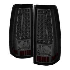 New Chevy 99-02 Silverado 99-03 GMC Sierra Smoked LED Tail Brake Lights Pair Set