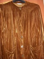 Special 20% Off David Dart Size Large Rayon Velour Bronze/gold Vintage Tunic