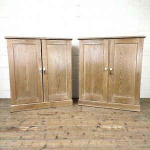 Pair of Rustic Antique Pine Cupboards (M-2958 + M-2959) - FREE DELIVERY*