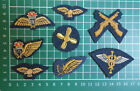 RAF / ROYAL AIR FORCE WIRE EMBROIDERED MESS DRESS BADGES. X 8