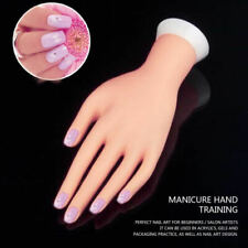 Practice Fake Hand Model For Nail Art Manicure Training Display Supply DIY hot