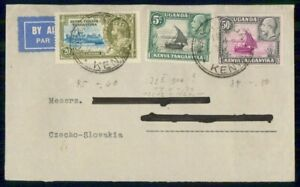 MayfairStamps Kenya Tanganyika 1935 to Czechoslovakia Air Mail Cover wwi98511