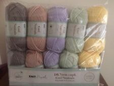 Donc Crafty Double Tricot Fil Bundle Pom Pom Maker Inclus Neuf en Packet 10 x 50 g