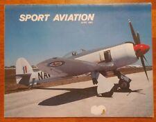 Sport Aviation Magazine June 1980 Sun 'n Fun Grand Warbird Hawker Sea Fury