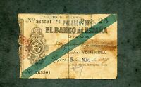 BILLETE 25 PESETAS  GIJON 1936  265501