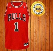 New Throwback Jersey Derrick Rose Chicago Bulls Red Men's Size S-XXL
