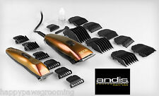 ANDIS SPEEDMASTER Clipper & CORDLESS SLIMLINE BTF 220,240 Volt Trimmer 18 pc KIT