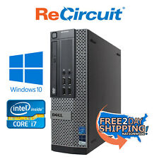 Refurbished Dell 7010 Desktop Computer - i5 3.6GHz, 8GB, 1TB HDD, Windows 10 Pro