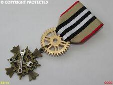 Steampunk badge brooch pindrape Medal spanners cog gearwheel mechanical engineer