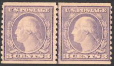 #493 F-VF LH OG TYPE I 3¢ Washington COIL LINE PAIR GEM (REM #493 lp-6)