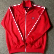 Fred Perry Mens Red/White Track Top XL