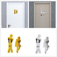 1PCs Toilette Badezimmer Schild für Hotel bar Restaurant Spiegel Wand Schön