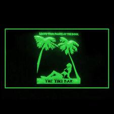 170057 Tiki Sex Bar Leave Pants Pub Outdoor Modern Interactive LED Light Sign